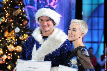 Дарья Мороз и Алексей Тихонов в телепроекте «Ледниковый период»