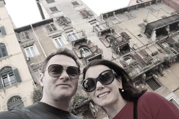 Мария Петрова и Алексей Тихонов в Вероне. Октябрь, 2018.